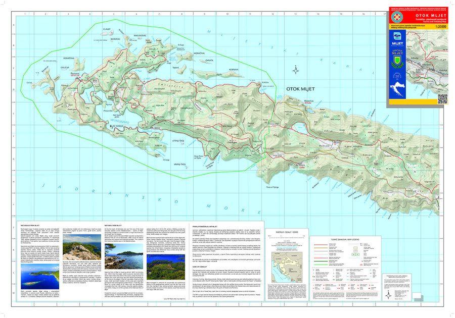 Objavljen novi zemljovid otoka Mljeta