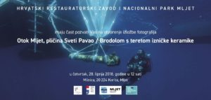"Exhibition ""Mljet Island, Shallows of St. Paul, Shipwreck with Iznik Pottery Cargo"""